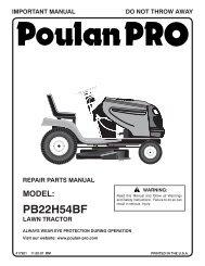 ipl, pb22h54bf, 2007-11, tractors/ride mowers, 96042006000 - Poulan