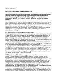 Historisk chance for danske kommuner - EDC Poul Erik Bech