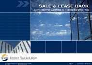 SALE & LEASE BACK - EDC Poul Erik Bech