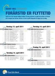 FORÅRSTID ER FLYTTETID - EDC Poul Erik Bech