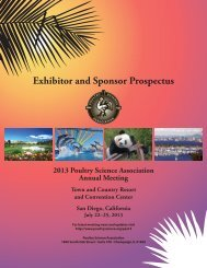 2013 Exhibitor and Sponsor Prospectus - Poultry Science Association