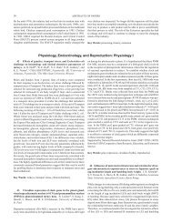 Physiology, Endocrinology, and Reproduction - Poultry Science ...