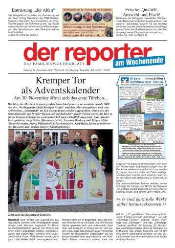 Kremper Tor als Adventskalender - Der Reporter