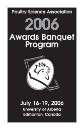 Awards Banquet Program - Poultry Science Association