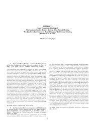 2001 SPSS Meeting Abstracts - Poultry Science Association