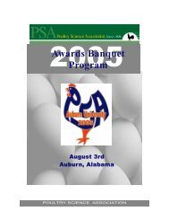 2005 Award Recipients - Poultry Science Association