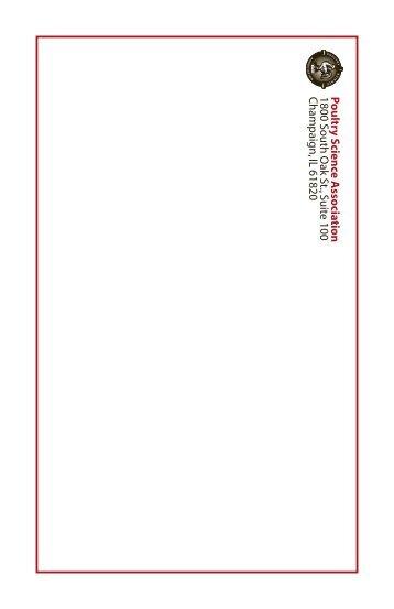 2012 Exhibitor & Sponsor Prospectus - Poultry Science Association