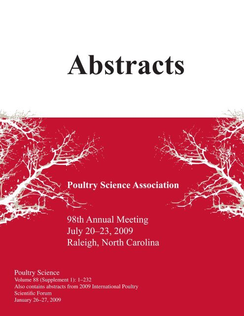 Abstracts Poultry Science Association