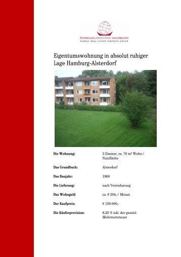 Eigentumswohnung in absolut ruhiger Lage Hamburg-Alsterdorf