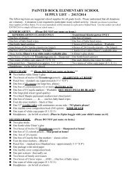 2013/2014 Student Supply List