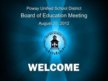 Presentation - Poway Unified School District
