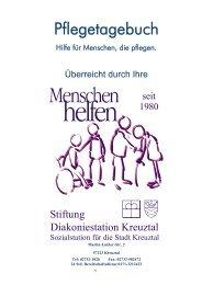 Pflegetagebuch - Stiftung Diakoniestation Kreuztal