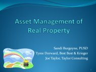 Asset Management of Real Property - Poway Unified School District