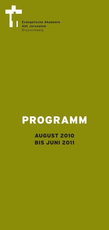 Programm - Evangelische Akademie Abt Jerusalem