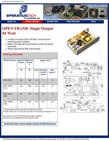 Operating Tech Electronics, Inc. - Power Guide Marketing