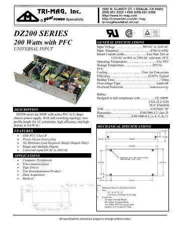 DZ200 SERIES - Power Guide Marketing