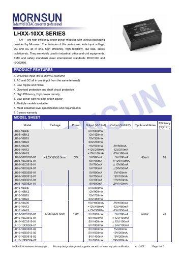 LHXX-10XX SERIES - Power Guide Marketing