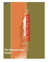 What the Peer Support Line Is - National Empowerment Center