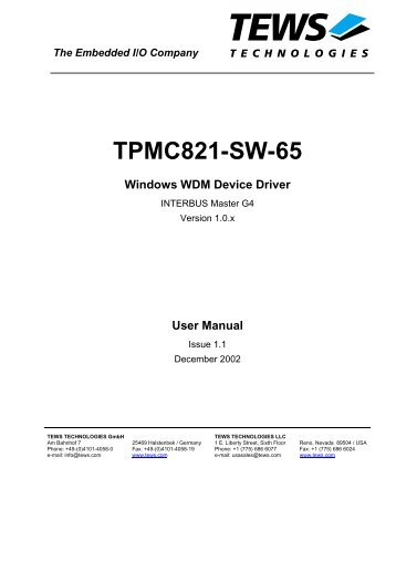 TPMC821-SW-65 - powerBridge Computer Vertriebs GmbH