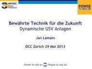 Dynamische USV-Anlagen, bewährte Technik für ... - PowerBuilding