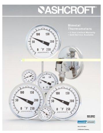 BM-1 - Bimetal Thermometers