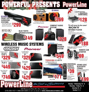 POWERFUL PRESENTS - Powerline Electronics