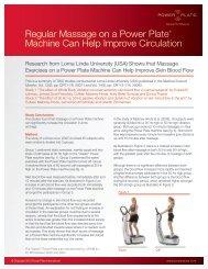 Regular Massage on a Power Plate® Machine Can Help Improve ...
