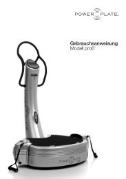 Gebrauchsanweisung Modell pro6TM - Power Plate