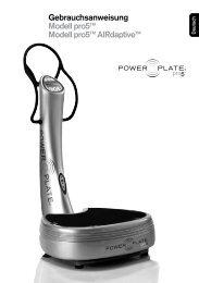 Gebrauchsanweisung Modell pro5™ Modell pro5 ... - Power Plate