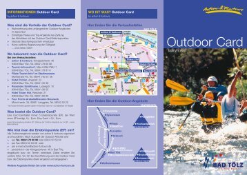 INFORMATIONEN Outdoor Card WO IST WAS? - Action Funtours