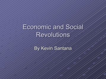 Economic and Social Revolutions - Power to Learn
