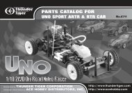 PARTS CATALOG FOR UNO SPORT ARTR & RTR CAR - Powertoys