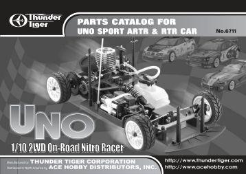 PARTS CATALOG FOR UNO SPORT ARTR & RTR CAR - Powertoys