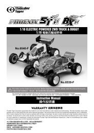 Instruction Manual 操作說明書1/10 ELECTRIC POWERED 2WD ...