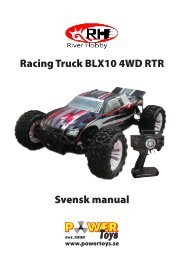 Racing Truck BLX10 4WD RTR Svensk manual - Powertoys