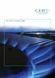 Gas Capacity Statement 2003 - Commission for Energy Regulation