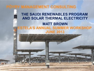 Current STE Developments and Future Plans in Saudi Arabia - estela