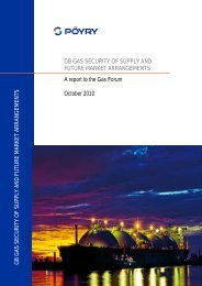 GB Gas Security of Supply and Future Market ... - Poyry.co.uk