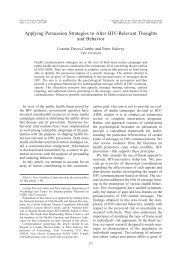 Applying Persuasion Strategies to Alter HIV-Relevant Thoughts and ...