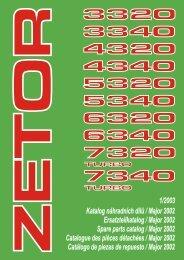Katalog náhradních dílù / Major 2002 ... - Poziadavka.sk