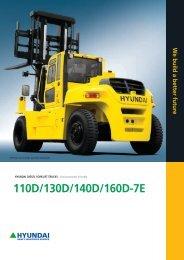 110D/130D/140D/160D-7E - Forklift Truck Hire