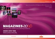awards entry form - Periodical Publishers Association