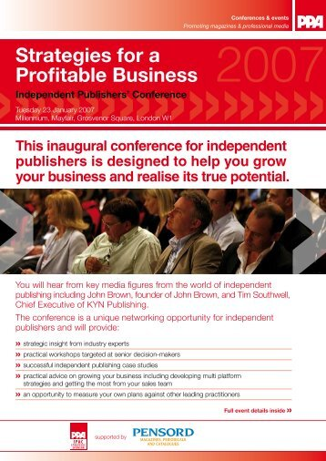 Strategies for a Profitable Business - Periodical Publishers Association
