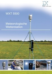 WXT 5500 Meteorologische Wetterstation - Driesen + Kern GmbH
