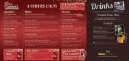 3 COURSES £18.95 - Frankie and Bennys