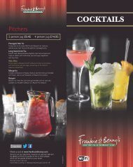 Download F&B Cocktails Menu - Frankie and Bennys