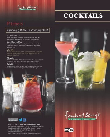 Download F&B Cocktails Menu - Frankie and Bennys