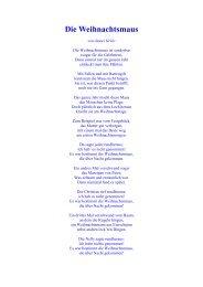 weihnachtsmaus gedicht