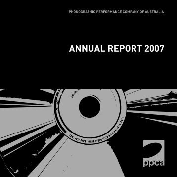 Annual Report 2007 - PPCA
