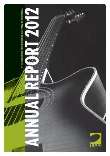 Annual Report 2012 - PPCA